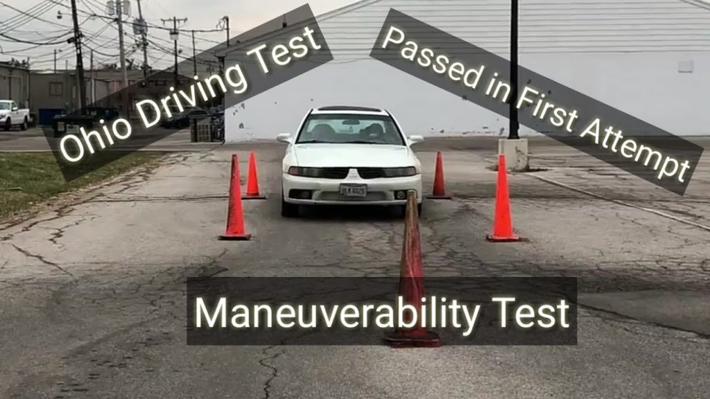 How To Pass Maneuverability Test  Cone Test   U2013 Driving Test Video    Passed